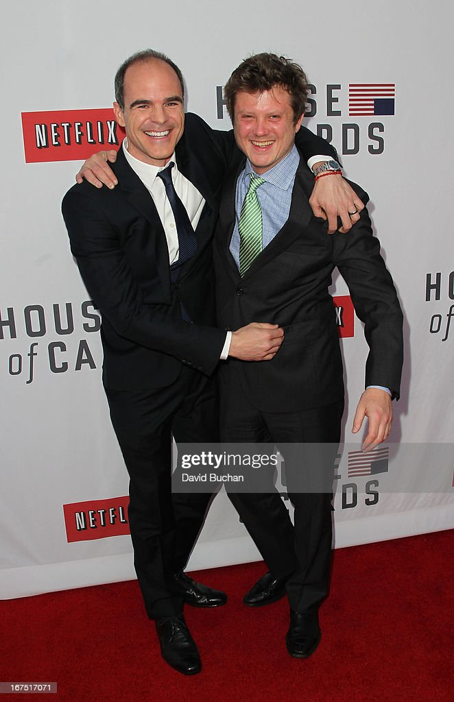 Actors Michael Kelly and <a gi-track='captionPersonalityLinkClicked' href=/galleries/search?phrase=Beau+Willimon&family=editorial&specificpeople=5602661 ng-click='$event.stopPropagation()'>Beau Willimon</a> attend Netflix's 'House Of Cards' For Your Consideration Q&A Event at Leonard H. Goldenson Theatre on April 25, 2013 in North Hollywood, California.
