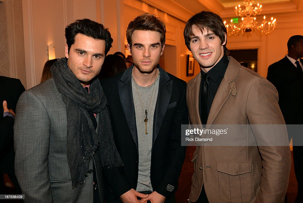 Actors Michael Malarkey, Nathaniel Buzolic, and <a gi-track='captionPersonalityLinkClicked' href=/galleries/search?phrase=Steven+R.+McQueen+-+Born+1988&family=editorial&specificpeople=4069204 ng-click='$event.stopPropagation()'>Steven R. McQueen</a> attend The Vampire Diaries 100th Episode Celebration on November 9, 2013 in Atlanta, Georgia.