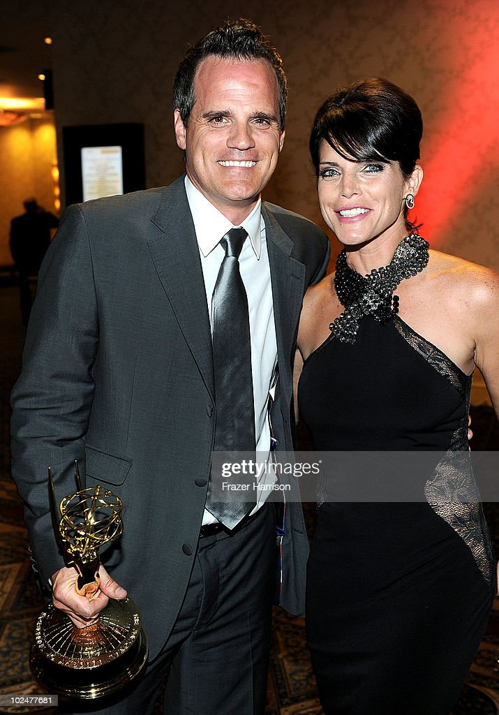Actors <a gi-track='captionPersonalityLinkClicked' href=/galleries/search?phrase=Michael+Park&family=editorial&specificpeople=214685 ng-click='$event.stopPropagation()'>Michael Park</a> and <a gi-track='captionPersonalityLinkClicked' href=/galleries/search?phrase=Lesli+Kay&family=editorial&specificpeople=624062 ng-click='$event.stopPropagation()'>Lesli Kay</a> attend the 37th Annual Daytime Entertainment Emmy Awards after party held at the Las Vegas Hilton on June 27, 2010 in Las Vegas, Nevada.