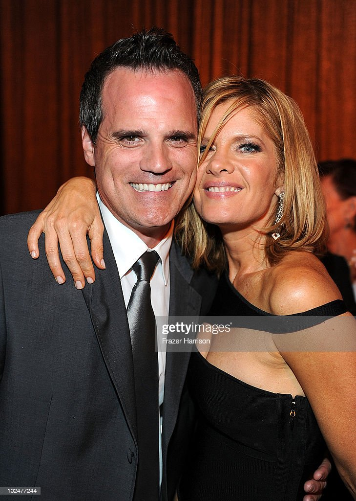Actors <a gi-track='captionPersonalityLinkClicked' href=/galleries/search?phrase=Michael+Park&family=editorial&specificpeople=214685 ng-click='$event.stopPropagation()'>Michael Park</a> and <a gi-track='captionPersonalityLinkClicked' href=/galleries/search?phrase=Michelle+Stafford&family=editorial&specificpeople=171699 ng-click='$event.stopPropagation()'>Michelle Stafford</a> attend the 37th Annual Daytime Entertainment Emmy Awards after party held at the Las Vegas Hilton on June 27, 2010 in Las Vegas, Nevada.
