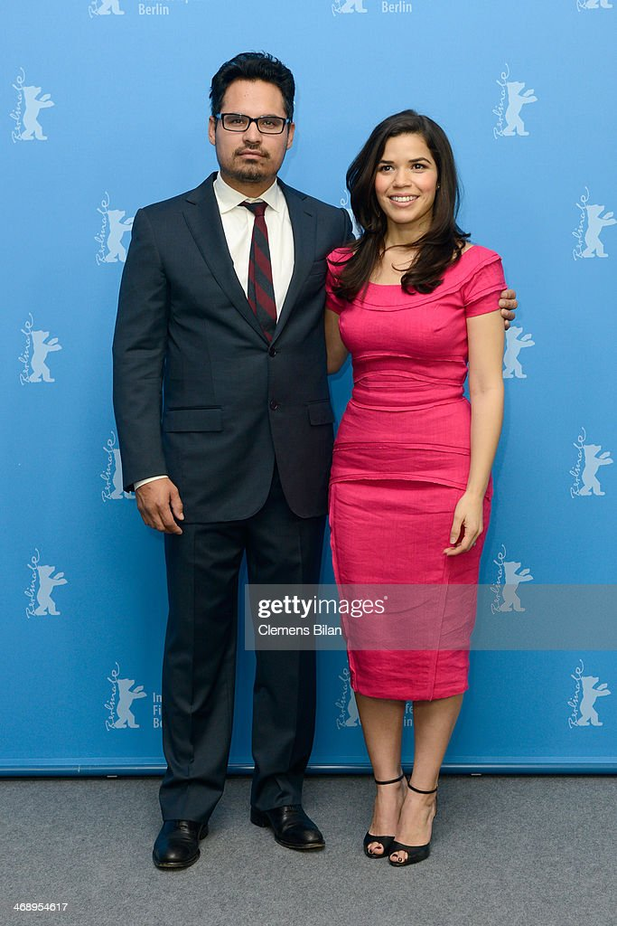 Actors Michael Pena and America Ferrera attend the 'Cesar Chavez' photocall during 64th Berlinale International Film Festival at Grand Hyatt Hotel on February 12, 2014 in Berlin, Germany.