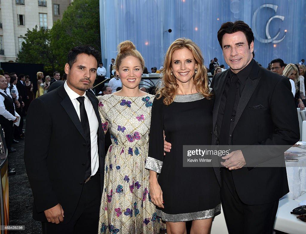 Actors Michael Pena Erika Christensen Kelly Preston and John Travolta attend the Church of Scientology Celebrity Centre 45th Anniversary Gala on...