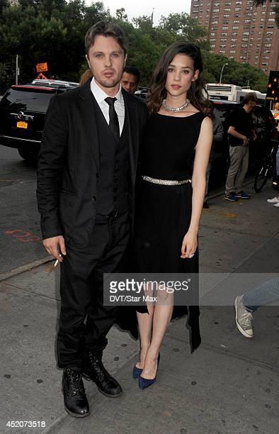 Actors Michael Pitt and Astrid BergesFrisbey are seen on July 10 2014 in New York City