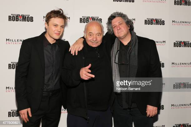 Actors Michael Pitt and Bert Young and director Raymond De Felitta attend the 'Rob The Mob' special screening at Sunshine Landmark on March 9 2014 in...