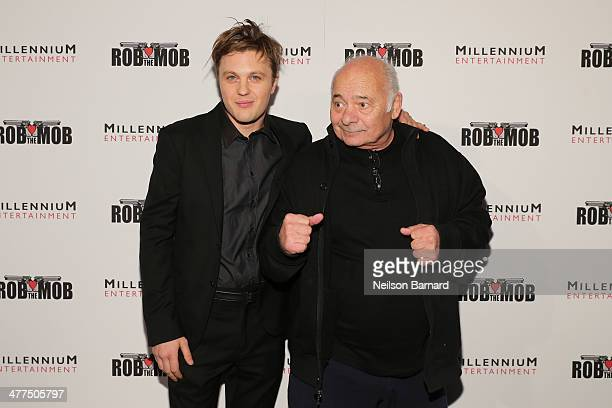 Actors Michael Pitt and Bert Young attend the 'Rob The Mob' special screening at Sunshine Landmark on March 9 2014 in New York City
