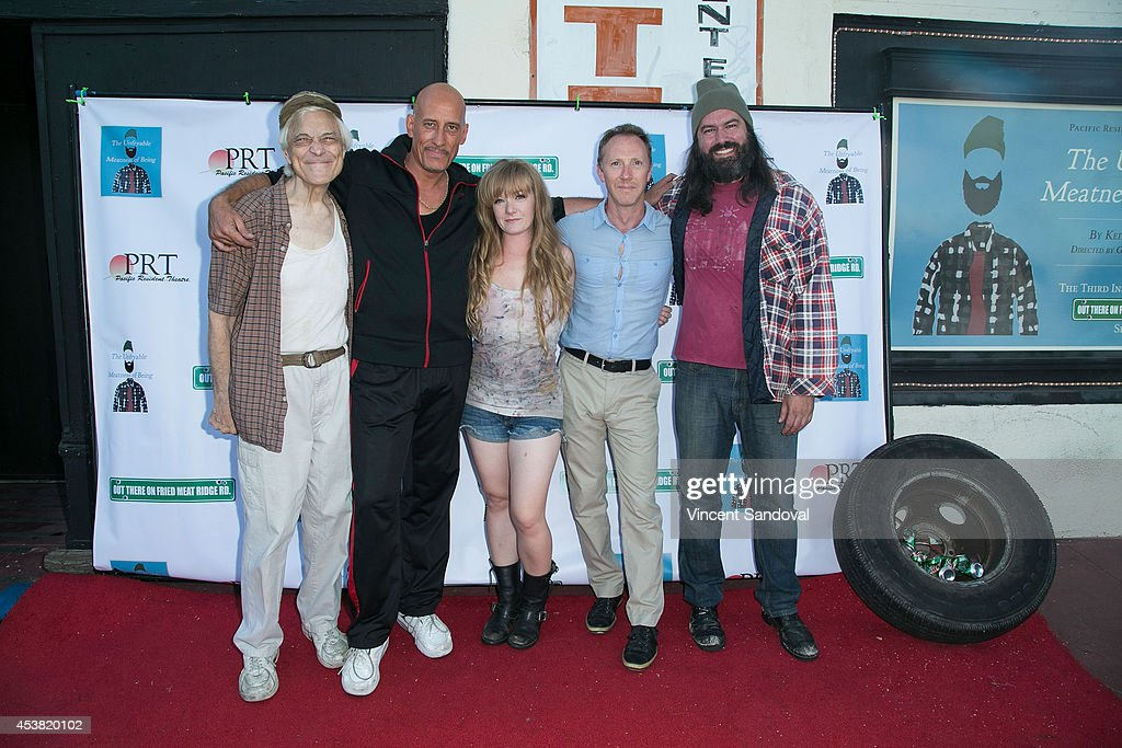 Actors Michael Prichard, Alex Fernandez, Kendrah Mckay, Neil McGowan and Keith Stevenson attend the premiere of 'Fried Meat 3: The Unfryable Meatness of Being' at Pacific Resident Theatre on August 18, 2014 in Venice, California.
