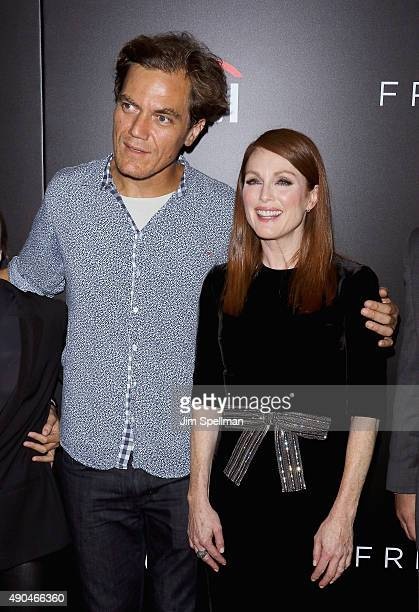 Actors Michael Shannon and Julianne Moore attend the 'Freeheld' New York premiere at Museum of Modern Art on September 28 2015 in New York City