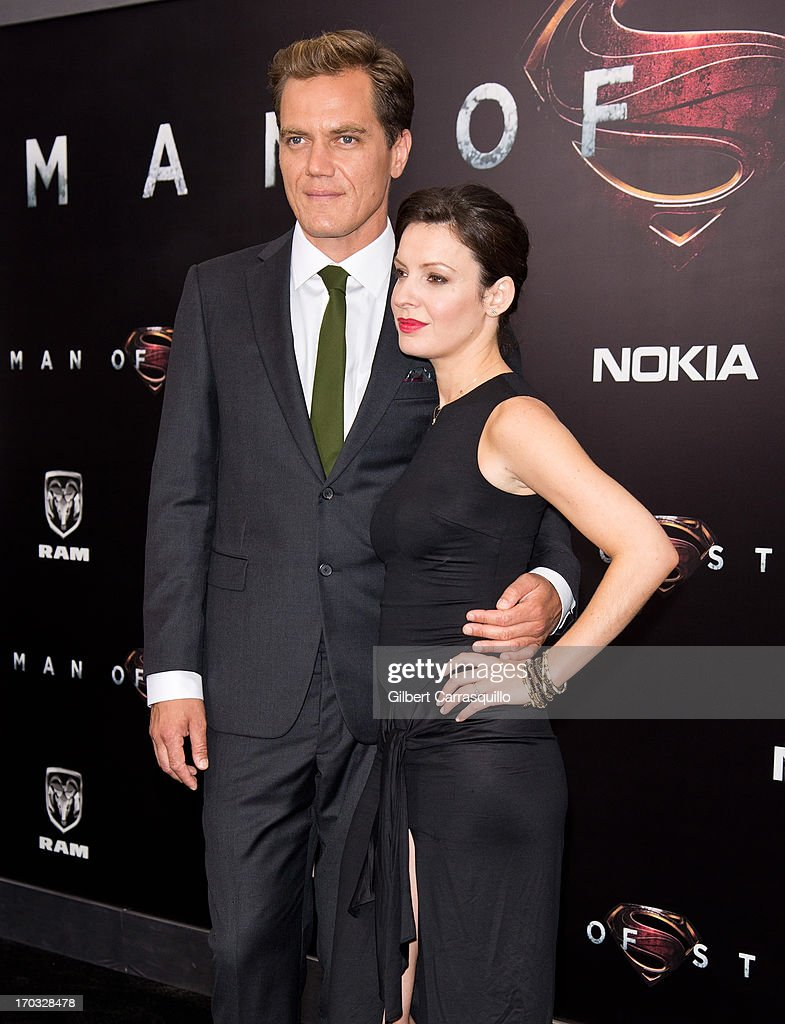Actors <a gi-track='captionPersonalityLinkClicked' href=/galleries/search?phrase=Michael+Shannon&family=editorial&specificpeople=660513 ng-click='$event.stopPropagation()'>Michael Shannon</a> and <a gi-track='captionPersonalityLinkClicked' href=/galleries/search?phrase=Kate+Arrington&family=editorial&specificpeople=7237784 ng-click='$event.stopPropagation()'>Kate Arrington</a> attends 'Man Of Steel' World Premiere at Alice Tully Hall at Lincoln Center on June 10, 2013 in New York City.