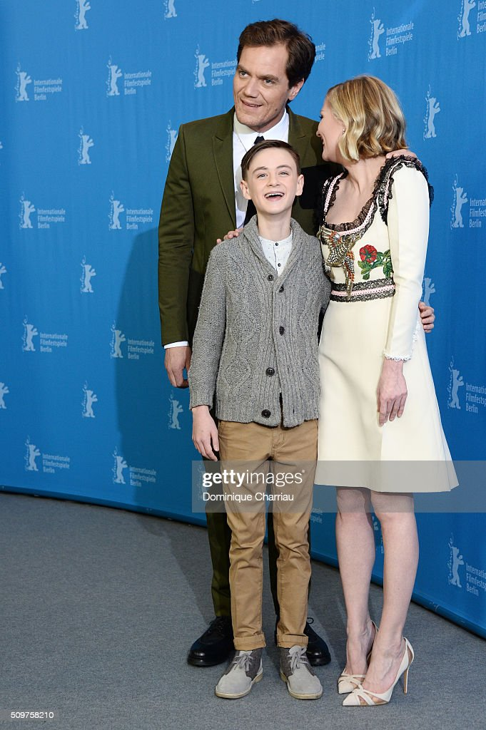 Actors <a gi-track='captionPersonalityLinkClicked' href=/galleries/search?phrase=Michael+Shannon&family=editorial&specificpeople=660513 ng-click='$event.stopPropagation()'>Michael Shannon</a>, <a gi-track='captionPersonalityLinkClicked' href=/galleries/search?phrase=Jaeden+Lieberher&family=editorial&specificpeople=11117189 ng-click='$event.stopPropagation()'>Jaeden Lieberher</a> and actress <a gi-track='captionPersonalityLinkClicked' href=/galleries/search?phrase=Kirsten+Dunst&family=editorial&specificpeople=171590 ng-click='$event.stopPropagation()'>Kirsten Dunst</a> attend the 'Midnight Special' photo call during the 66th Berlinale International Film Festival Berlin at Grand Hyatt Hotel on February 12, 2016 in Berlin, Germany.