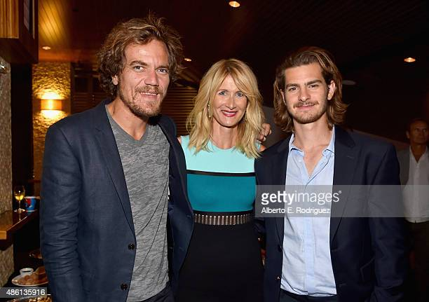 Actors Michael Shannon Laura Dern and Andrew Garfield attend a special screening of '99 Homes' on August 31 2015 in Los Angeles California