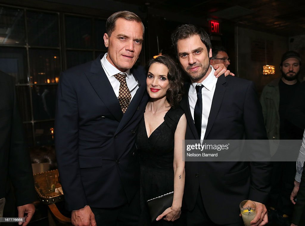 Actors Michael Shannon Winona Ryder and driector Ariel Vromen attend the after party for a special New York screening of 'The Iceman' hosted by GREY...