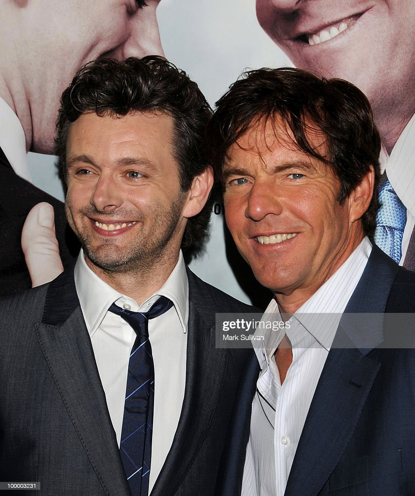 Actors Michael Sheen and Dennis Quaid attend HBO Film's 'The Special Relationship' Los Angeles Premiere at Directors Guild Theatre on May 19, 2010 in West Hollywood, California.