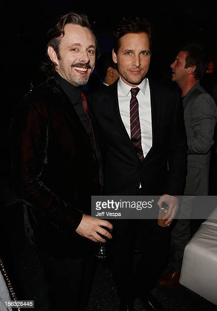 Actors Michael Sheen and Peter Facinelli attend 'The Twilight Saga Breaking Dawn Part 2' after party at Nokia Theatre LA Live on November 12 2012 in...