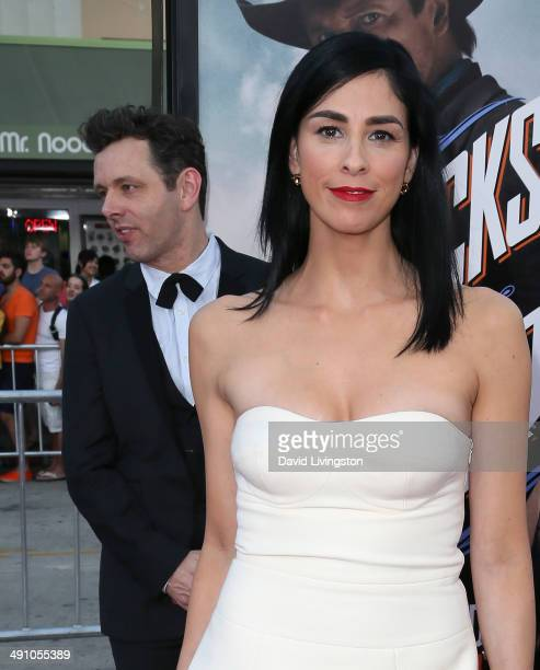 Actors Michael Sheen and Sarah Silverman attend the premiere of Universal Pictures and MRC's 'A Million Ways to Die in the West' at the Regency...