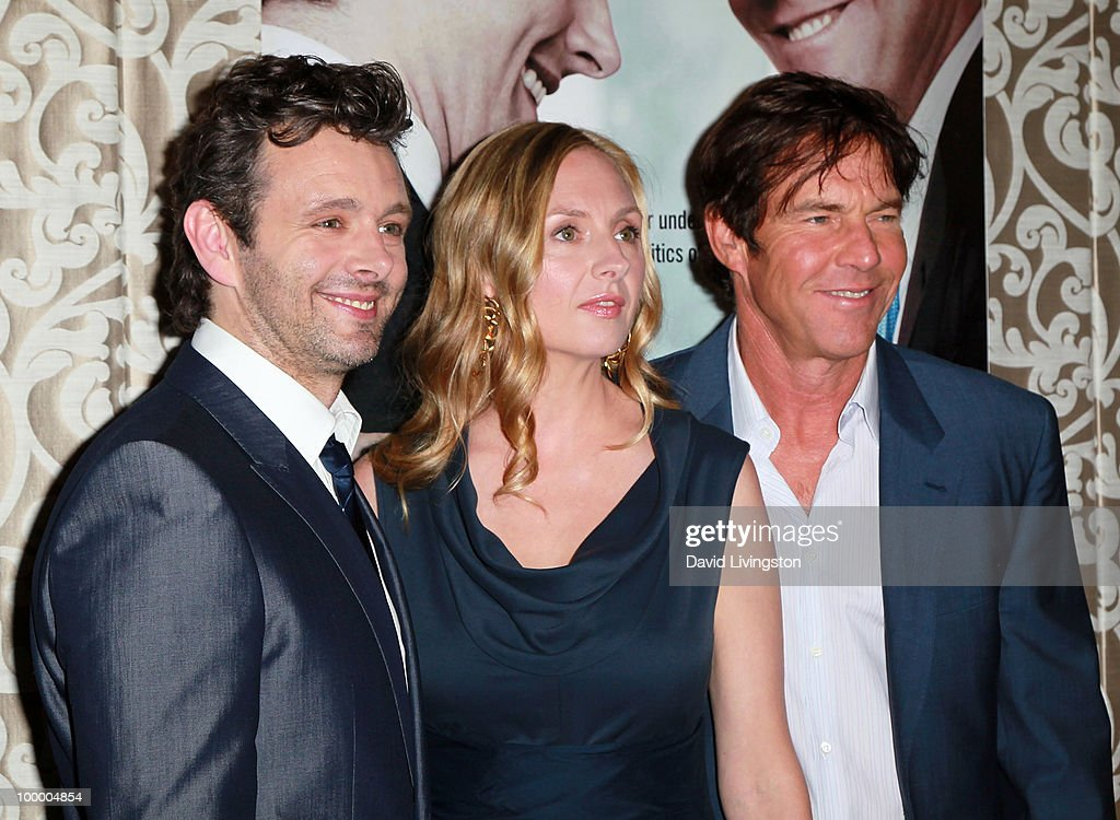Actors Michael Sheen, Hope Davis and Dennis Quaid attend the premiere of HBO Films 'The Special Relationship' at the Directors Guild of America on May 19, 2010 in Los Angeles, California.