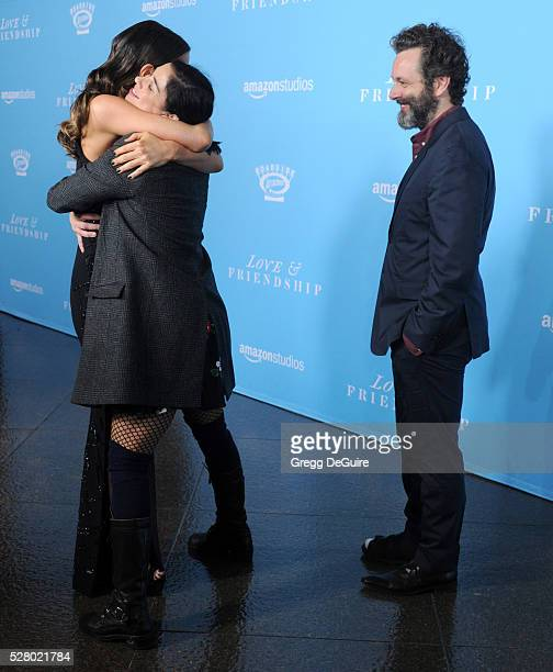 Actors Michael Sheen Kate Beckinsale and Sarah Silverman arrive at the premiere of Roadside Attractions' 'Love And Friendship' at Directors Guild Of...