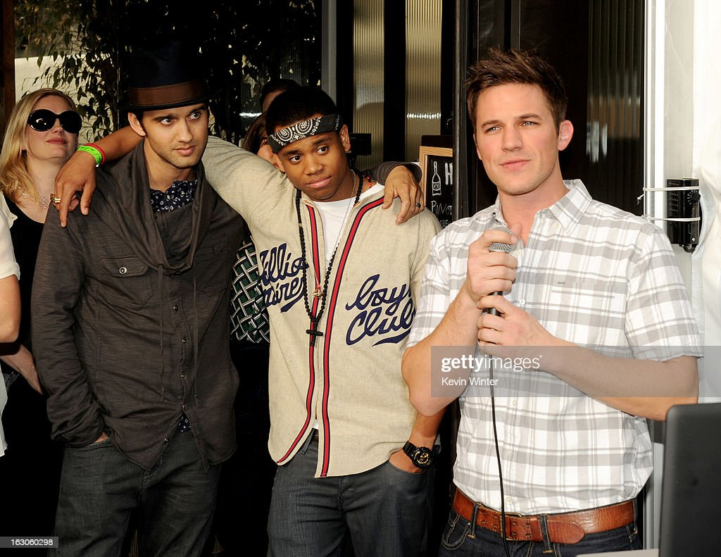 Actors Michael Steger, Tristan Wilds and Matt Lanter appear at the CW Network's '90210' Season 5 Wrap Party on March 3, 2013 in Los Angeles, California.