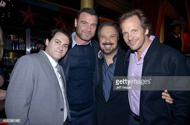 Actors Michael Stuhlbarg Liev Schreiber Director Edward Zwick and actor Peter Sarsgaard attend the 'Pawn Sacrifice' world premiere party during the...