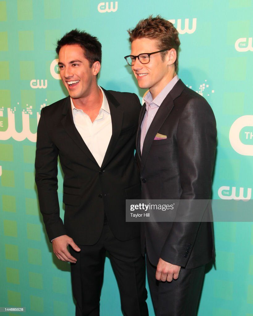 Actors Michael Trevino and Zach Roerig attend The CW Network's New York 2012 Upfront at New York City Center on May 17, 2012 in New York City.