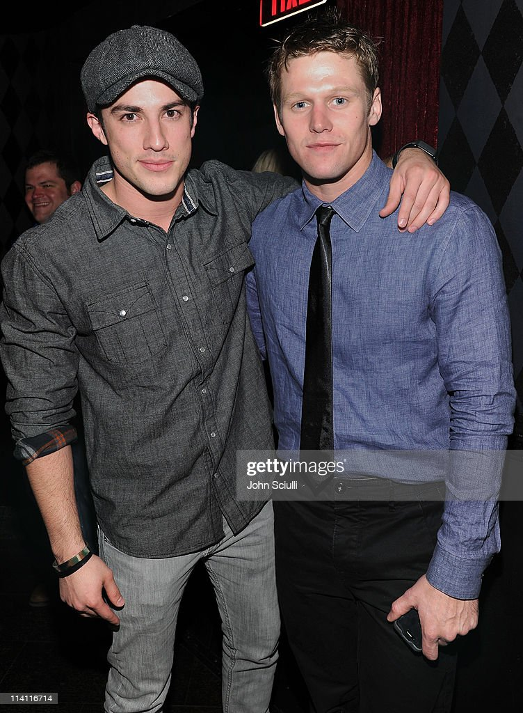 Actors Michael Trevino and Zach Roerig attend the 'Skateland' after party on May 11, 2011 in Hollywood, California.