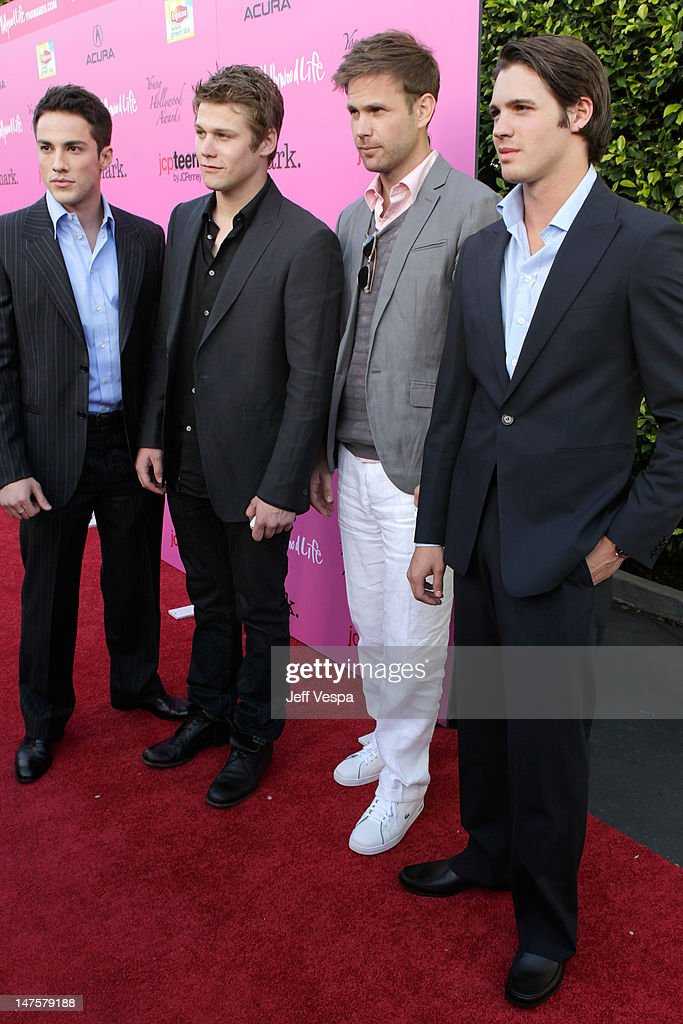 Actors Michael Trevino, Zach Roerig, Matthew Davis and Steven R. McQueen arrive at the 12th annual Young Hollywood Awards sponsored by JC Penney, Mark. & Lipton Sparkling Green Tea held at the Ebell of Los Angeles on May 13, 2010 in Los Angeles, California.