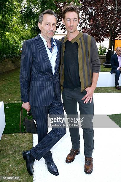 Actors Michael Wincott and Benn Northover attend the Berluti show as part of the Paris Fashion Week Menswear Spring/Summer 2015 Held at 'Ecole des...