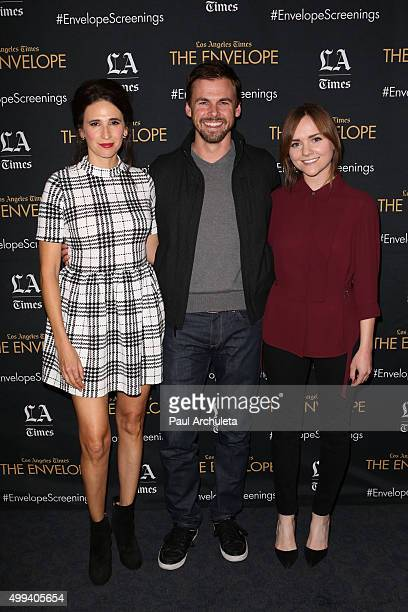Actors Michaela Watkins Tommy Dewey and Tara Lynne Barr attend the screening and QA of Hulu's new series 'Casual' at The ArcLight Sherman Oaks on...