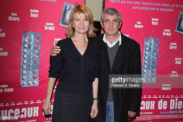 Actors Michel Boujenah and Nicole Garcia attend the 'Les Bureaux de Dieu' Paris Premiere at the UGC les Halles on November 3 2008 in Paris France
