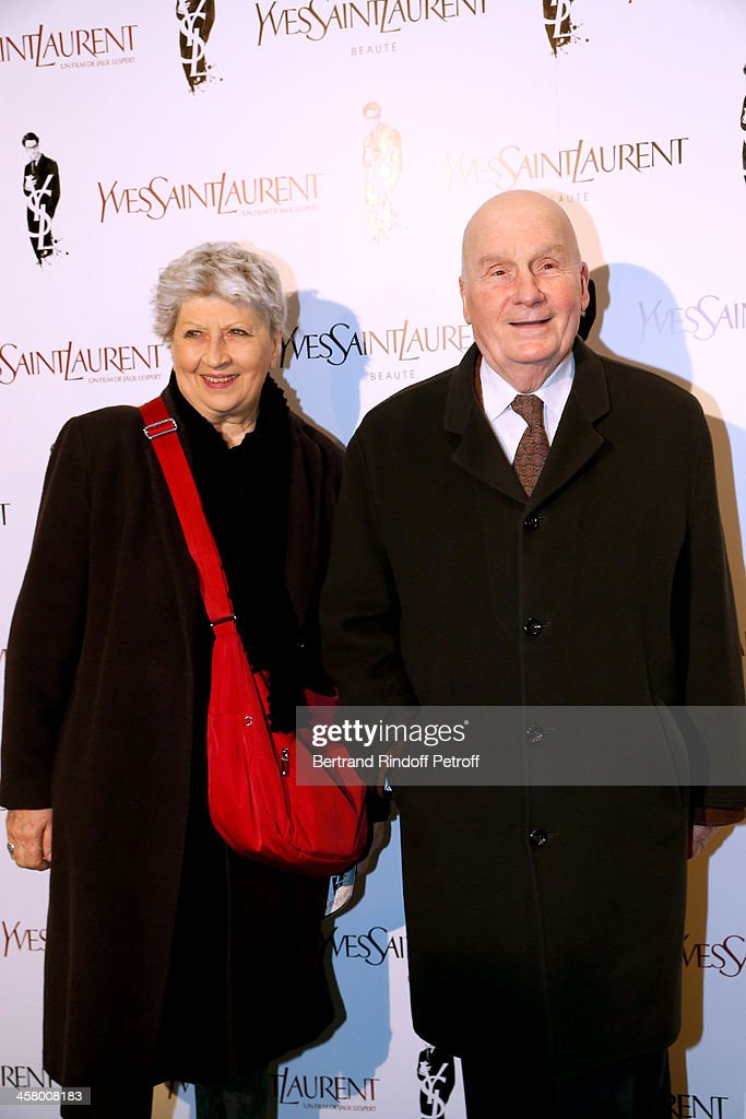 Actors <a gi-track='captionPersonalityLinkClicked' href=/galleries/search?phrase=Michel+Bouquet&family=editorial&specificpeople=2025171 ng-click='$event.stopPropagation()'>Michel Bouquet</a> and his wife Juliette Carre attend the 'Yves Saint Laurent' Paris movie Premiere at Cinema UGC Normandie on December 19, 2013 in Paris, France.