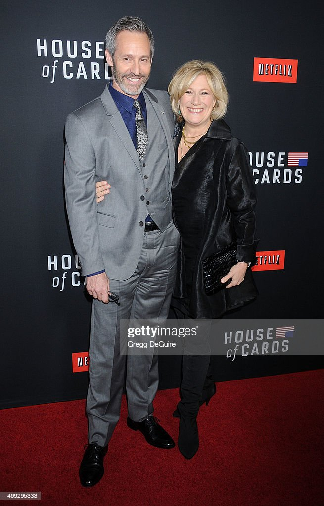Actors Michel Gill and <a gi-track='captionPersonalityLinkClicked' href=/galleries/search?phrase=Jayne+Atkinson&family=editorial&specificpeople=2346441 ng-click='$event.stopPropagation()'>Jayne Atkinson</a> arrive at the 'House Of Cards' Season 2 special screening at Directors Guild Of America on February 13, 2014 in Los Angeles, California.