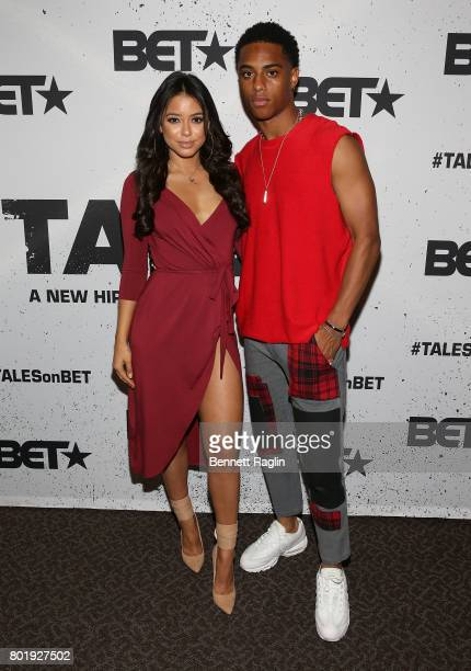 Actors Michelle Hayden and Keith Powers attend the Screening of the BET Series 'Tales' at DGA Theater on June 26 2017 in Los Angeles California