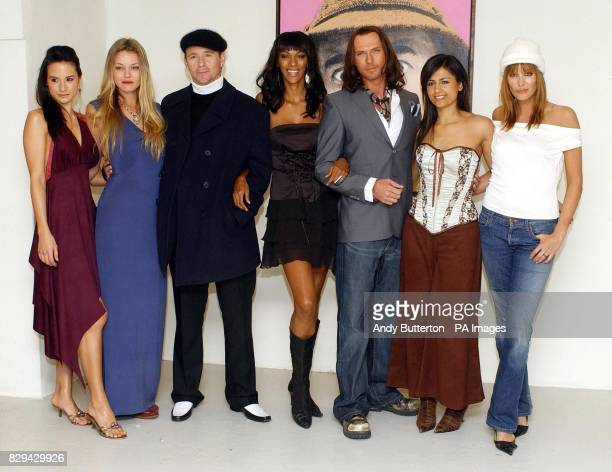 Actors Michelle MacErlean Natasja Vermeer Jason Connery Judi Shekoni Luke Goss Aruna Shields and Catalina Guirado during a photocall for their new...
