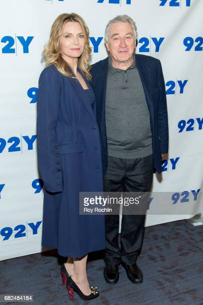 Actors Michelle Pfeiffer and Robert De Niro attend 92Y Presents 'The Wizard Of Lies' on May 12 2017 in New York City
