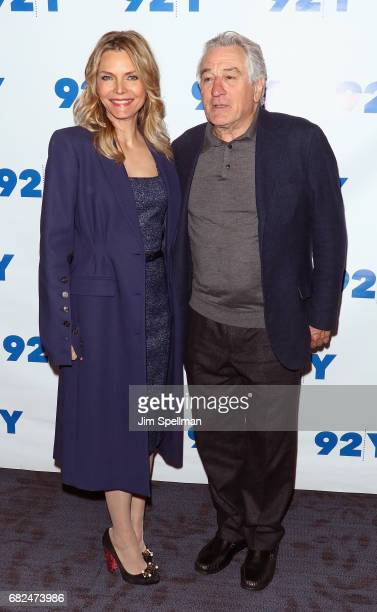 Actors Michelle Pfeiffer and Robert De Niro attend the 'The Wizard Of Lies' presented by 92Y May 12 2017 in New York City