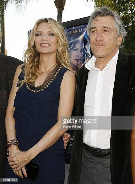Actors Michelle Pfeiffer and Robert De Niro pose at the premiere of Paramount Picture's 'Stardust' at the Paramount Studio Theater on July 29 2007 in...