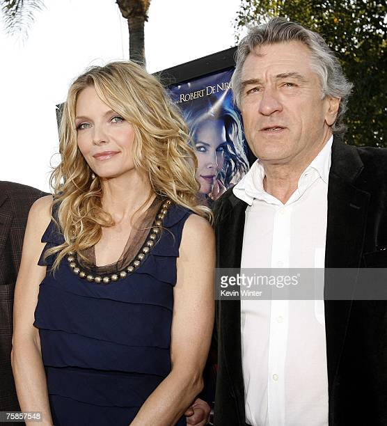 Actors Michelle Pfeiffer and Robert De Niro pose together on arriving at the premiere of Paramount Picture's 'Stardust' at the Paramount Studio...