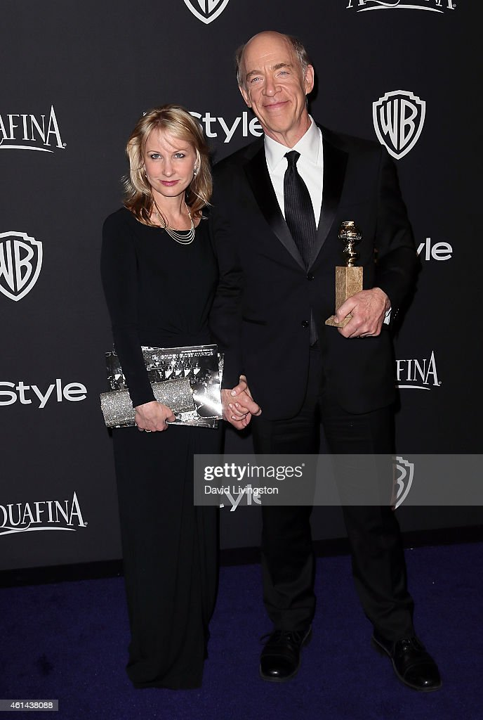Actors Michelle Schumacher (L) and J.K. Simmons attend the 2015 InStyle and Warner Bros. 72nd Annual Golden Globe Awards Post-Party at The Beverly Hilton Hotel on January 11, 2015 in Beverly Hills, California.