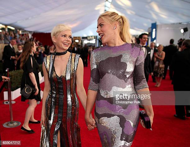 Actors Michelle Williams and Busy Philipps attend The 23rd Annual Screen Actors Guild Awards at The Shrine Auditorium on January 29 2017 in Los...
