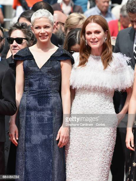 Actors Michelle Williams and Julianne Moore attend the 'Wonderstruck' screening during the 70th annual Cannes Film Festival at Palais des Festivals...
