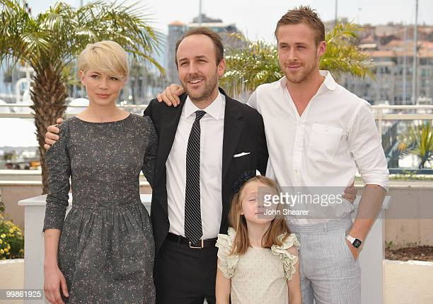 Actors Michelle Williams director Derek Cianfrance Faith Wladyka and Ryan Gosling attend the 'Blue Valentine' Photo Call held at the Palais des...