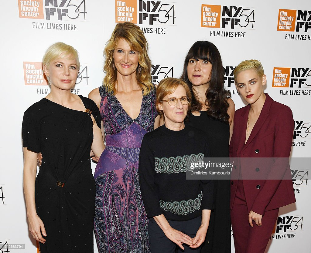 Actors Michelle Williams, Laura Dern, Lily Gladstone and Kristen Stewart pose with Director Kelly Reichardt (C) at the 'Certain Women' premiere during the 54th New York Film Festival at Alice Tully Hall, Lincoln Center on October 3, 2016 in New York City.