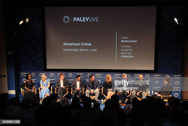 Actors Mickaelle X Bizet Ana MulvoyTen Connor Jessup Richard Cabral Benito Martinez and Felicity Huffman executive producer Michael McDonald series...
