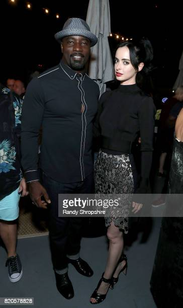 Actors Mike Colter and Krysten Ritter attend the Entertainment Weekly and Marvel After Dark event at the EW Studio during ComicCon at Hard Rock Hotel...