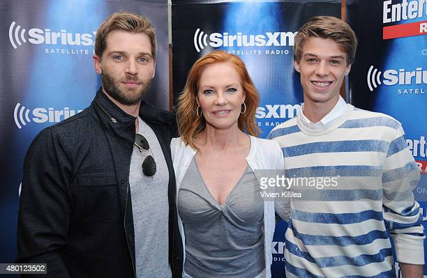 Actors Mike Vogel Marg Helgenberger and Colin Ford attend SiriusXM's Entertainment Weekly Radio Channel Broadcasts From ComicCon 2015 at Hard Rock...