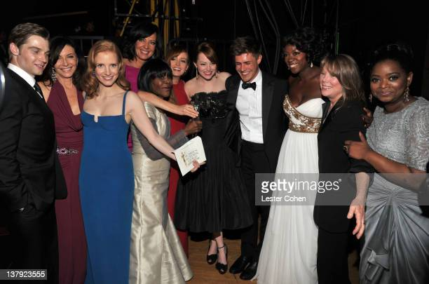 Actors Mike Vogel Mary Steenburgen Jessica Chastain Allison Janney Cicely Tyson Ahna O'Reilly Emma Stone Chris Lowell Viola Davis Sissy Spacek and...