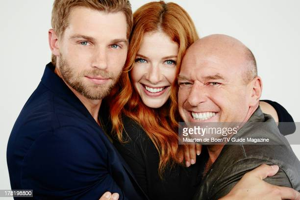 Actors Mike Vogel Rachelle Lefevre and Dean Norris are photographed for TV Guide Magazine on July 20 2013 on the TV Guide Magazine Yacht in San Diego...