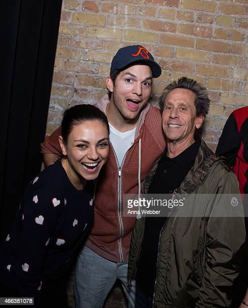 Actors Mila Kunis Ashton Kutcher and Producer Brian Grazer attend The Launch Of Ashton Kutcher Guy Oseary's Sound Ventures At SXSW on March 14 2015...