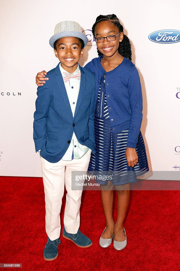 Actors Miles Brown (L) and Marsai Martin attend the 41st Annual Gracie Awards at Regent Beverly Wilshire Hotel on May 24, 2016 in Beverly Hills, California.