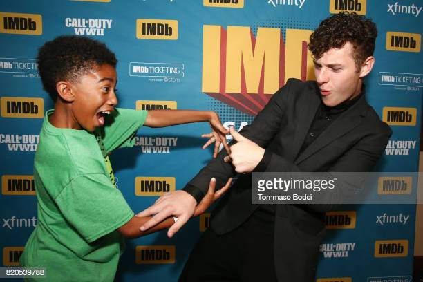 Actors Miles Brown and Nolan Gould attend the #IMDboat Party at San Diego ComicCon 2017 Presented By XFINITY on The IMDb Yacht on July 21 2017 in San...