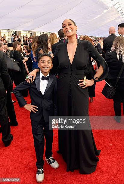 Actors Miles Brown and Tracee Ellis Ross attends The 23rd Annual Screen Actors Guild Awards at The Shrine Auditorium on January 29 2017 in Los...